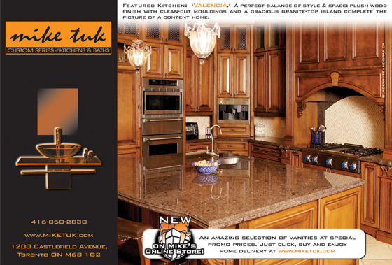 Mike Tuk Custom Kitchens - Print Ad 2